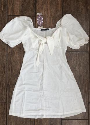 Новое летнее платье с бирками на завязках легкое