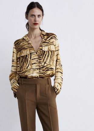 Шикарная оверсайз рубашка, блуза zara
