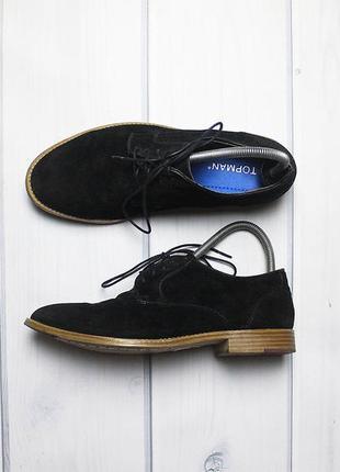 Шикарные замшевые повседневные туфли от бренда topman