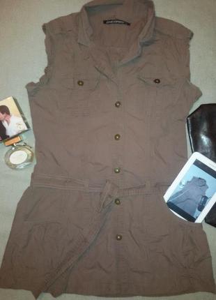 Брендовое стильное платье сафари,для дерзкой девушки