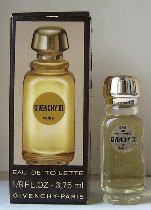 Givenchy iii - edt - 3.75 мл. оригінал. вінтаж