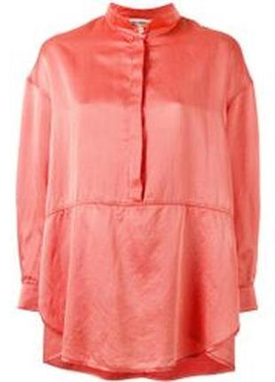 Шёлковая блуза свободного фасона премиум бренда henrik vibskov 1+1=3