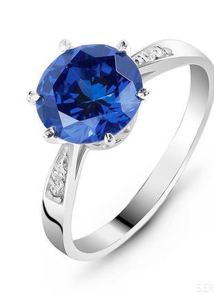Сделай себе подарок к праздникам. шикарное кольцо с сапфиром