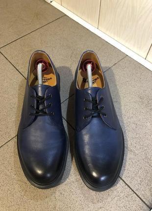 Сині туфлі ботінки dr.martens
