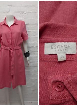 Escada sport льняное платье халат рубашка