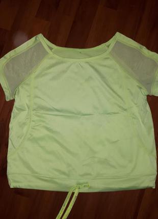 Спортивная укороченная футболка bershka размер s