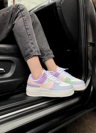 Air force shadow candy bonbon нежные женские кроссовки найк разноцветные