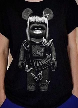 Стильная футболка. 100% эксклюзив. качество, вытравная печать, хлопок.