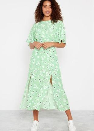 Платье миди в ромашки вискоза 😍 сукня міді плаття sale🔥🔥🔥
