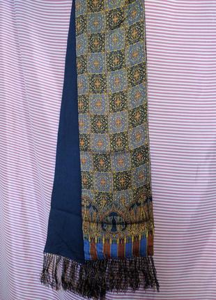 Комфорт и красота:мягкий натуральный  винтаж шарф узоры