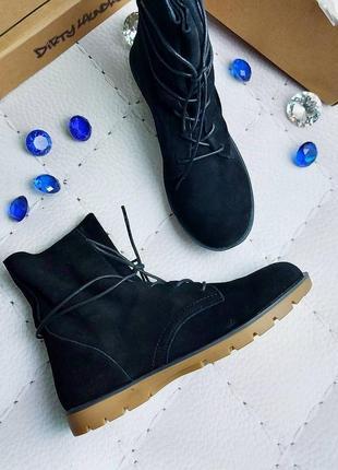 Dirty laundry оригинал черные ботинки из мягкой замши