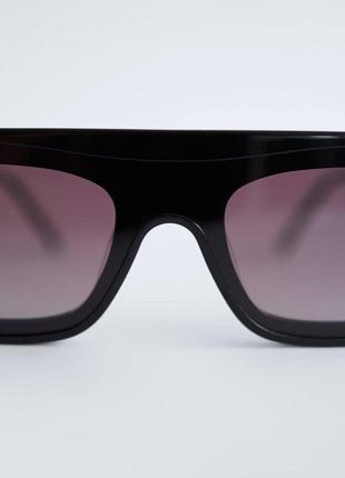 Солнечные очки в плоской оправе из ацетата zara оригинал2 фото