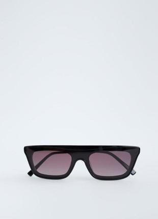 Солнечные очки в плоской оправе из ацетата zara оригинал3 фото