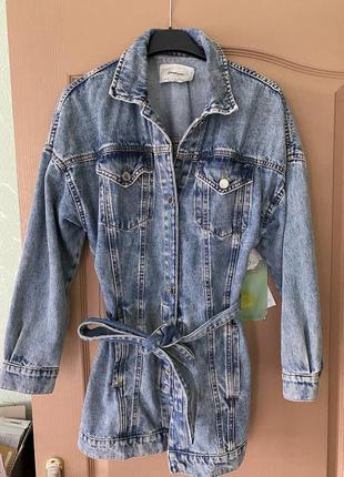 Джинсовка джинсовая куртка удлиненная