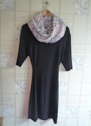 Черное платье кокон футляр бренда the ark, made in australia, настоящий must have, вискоза
