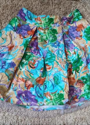 Очень интересная юбка коттон с фатином