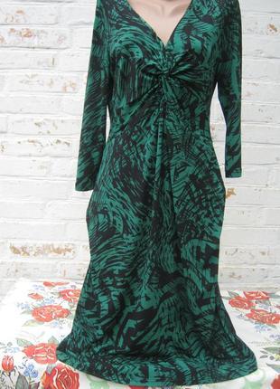 Стильное платье драпировка батал
