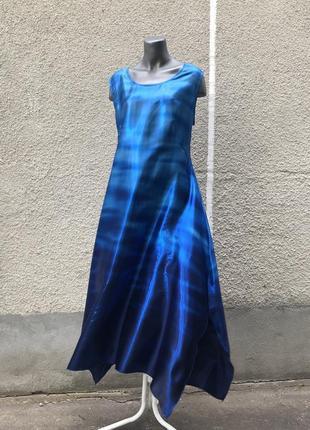 Літнє синє плаття shalaj