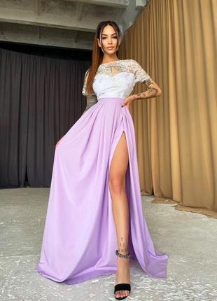 Платье сиреневое сирень лаванда кружево кружевное