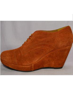 Р38 roberto santi,италия, натуральная замш кожа!изысканные,уютные туфли ботинки ботильоны