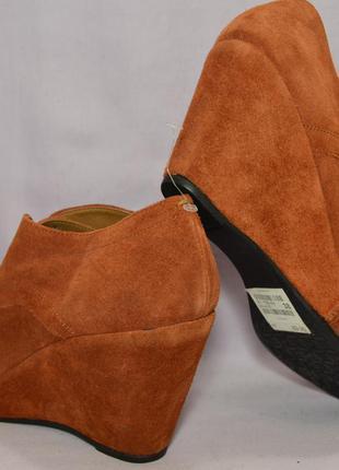 Р38 roberto santi,италия, натуральная замш кожа!изысканные,уютные туфли ботинки ботильоны5