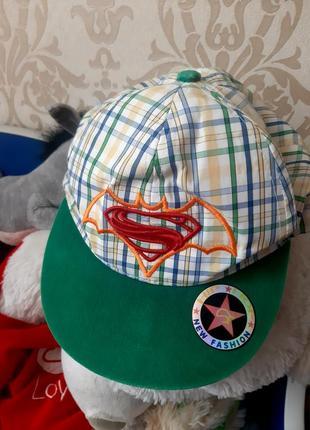 Кепка реперка супермен 52-54
