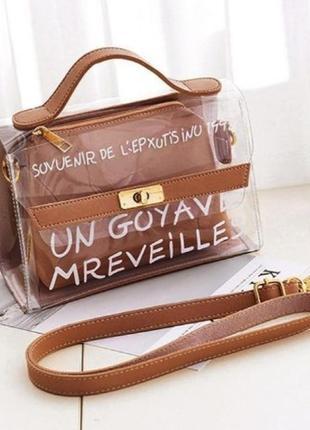 Крутая прозрачная сумка