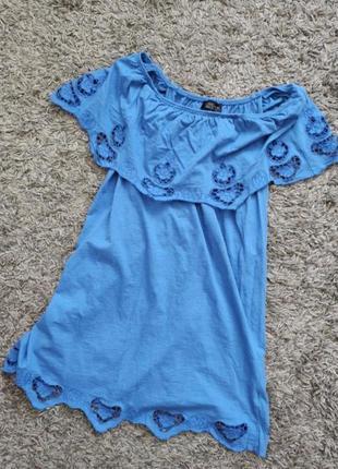 Платье летнее женское topshop с открытыми плечами