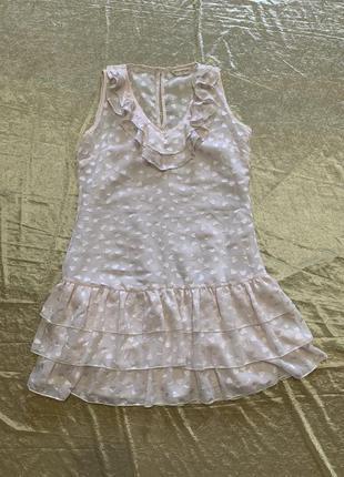 Нежное шифоновое платье с воланами miss selfridge размер xs-s