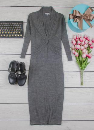 Платье миди трикотажное теплое полушерстяное от marks & spencer размер uk 12 наш р. 46
