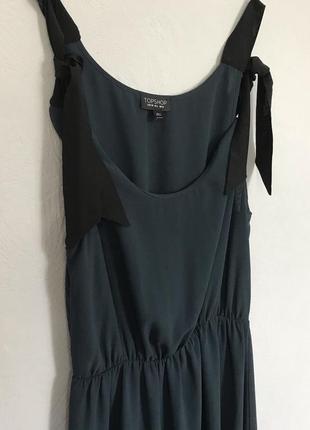 Летнее платье . платье миди . платье на завязках .