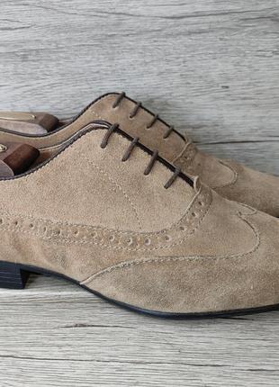 Asos 41p туфли мужские замша индия