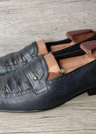 Pierre cardin 41p туфли мужские лоферы кожа франция