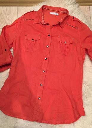 Рубашка хлопковая promod