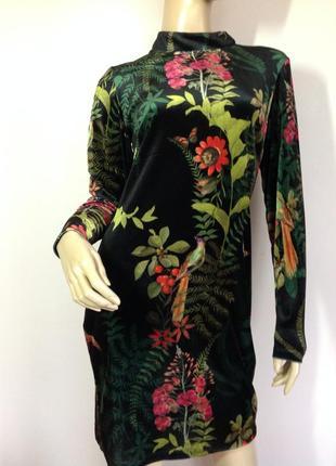 Бархатное платье в цветы /m- l/ brend next