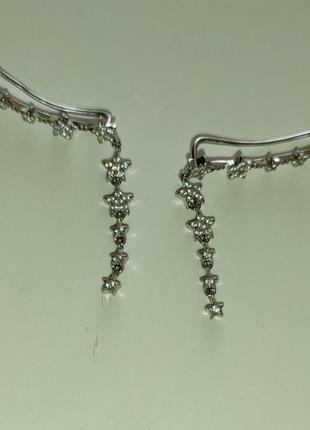 Клаймберы серебряные серьги звезды