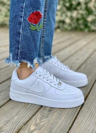 Шикарные женские кроссовки nike air force 1'07 white наложка