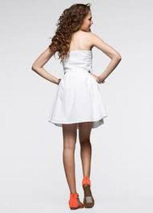 Белое платье хлопок платье бюстье rainbow с выработкой платье коттон