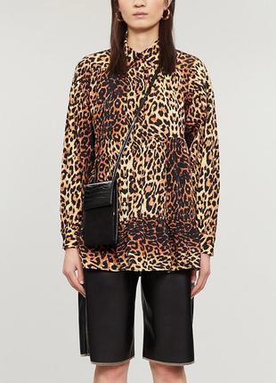 Блуза   хлопковая блуза   блуза хлопок   леопардовая блуза   блуза оверсайз