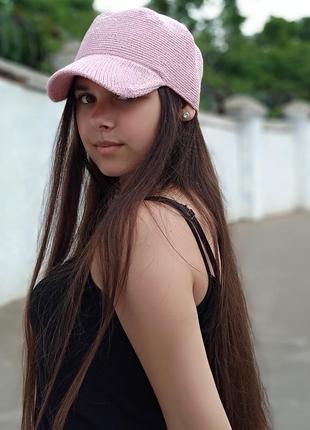 Летняя вязаная кепка