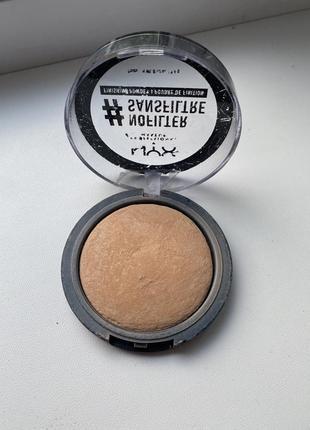 Компактная фиксирующая пудра nyx professional makeup nofilter finishing powder