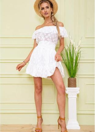 Платье шифоновое цвет молочный