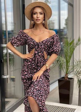 Шикарное платье  миди  женское