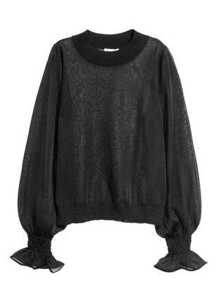Нарядный полупрозрачный топ- блуза h&m 1+1=3