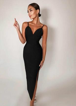 Платье вечернее силуэтное