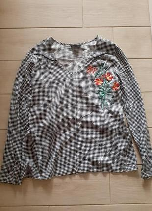 Блуза фирменная one step кофточка с вышивкой  s-xs