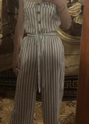 Модный летний женский комбинезон с кюлотами