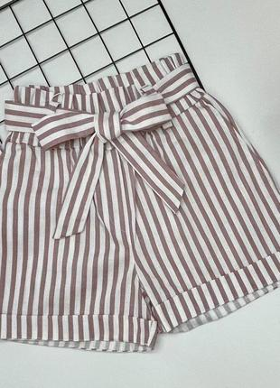 Модные шорты, ткань лен