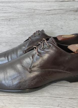 Prada 43p туфли мужские кожаные италия