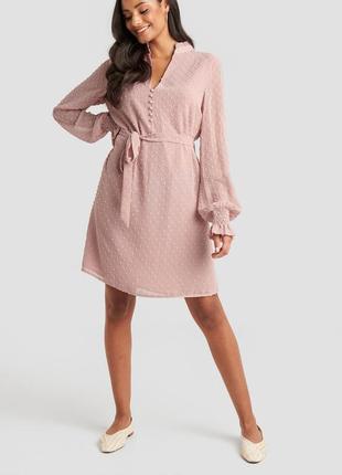 Летнее шифоновое платье розовое